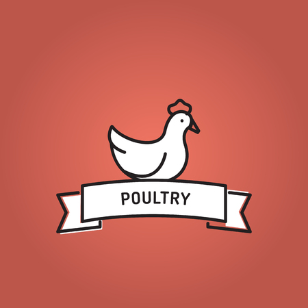POULTRY LINE ICON SET