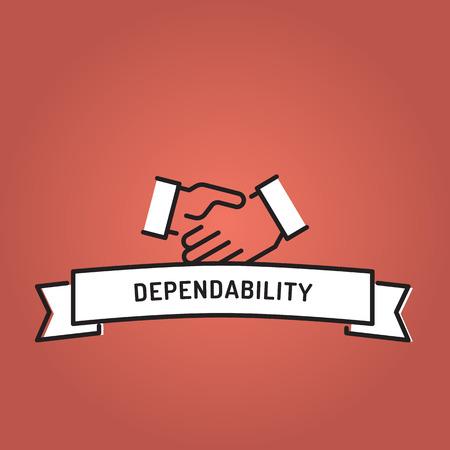 DEPENDABILITY LINE ICON SET Illustration