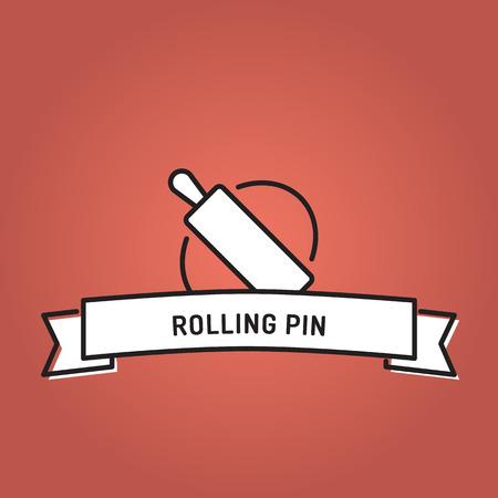 ROLLING PIN LINE ICON SET Illustration