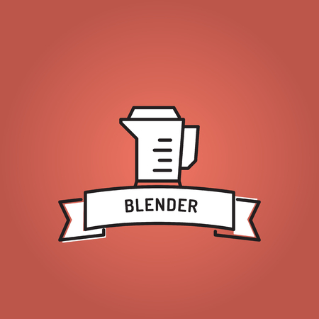BLENDER LINE ICON SET Иллюстрация