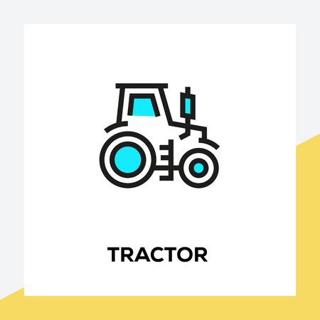 TRACTOR LINE ICON SET Vectores