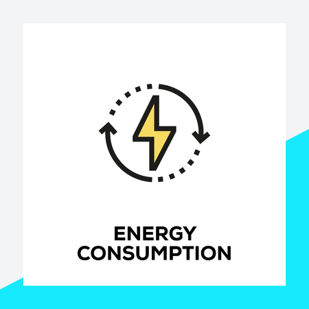 ENERGY CONSUMPTION LINE ICON SET