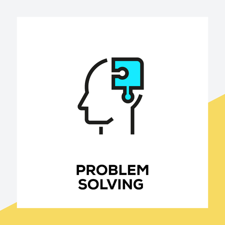 PROBLEM SOLVING LINE ICON SET
