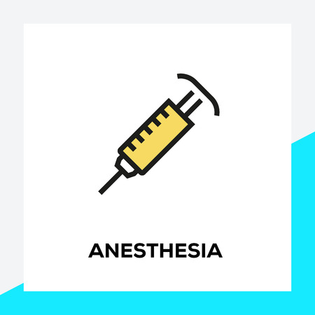 ANESTHESIA LINE ICON SET Иллюстрация
