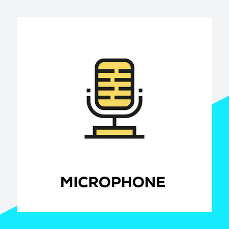 MICROPHONE LINE ICON SET