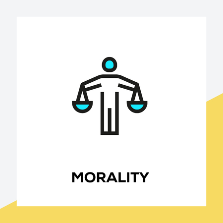 MORALITY LINE ICON SET Illustration