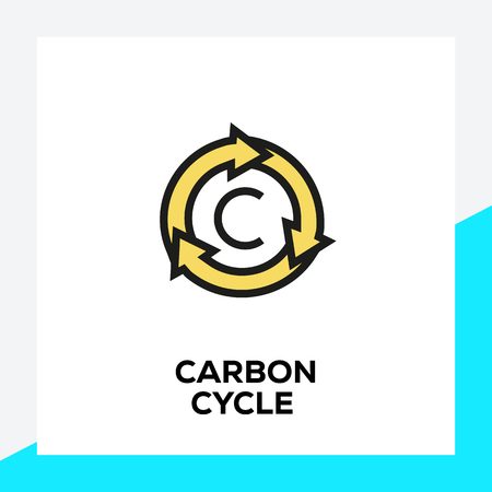 CARBON CYCLE LINE ICON SET