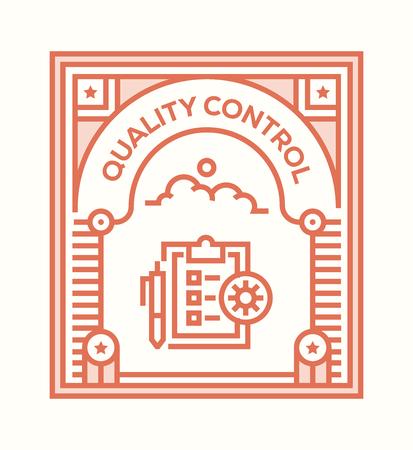 QUALITY CONTROL ICON CONCEPT