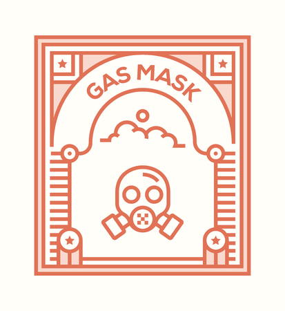 GAS MASK ICON CONCEPT