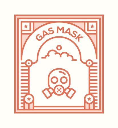GAS MASK ICON CONCEPT