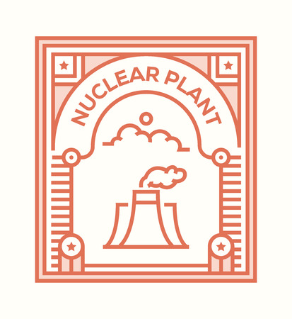 NUCLEAR PLANT ICON CONCEPT