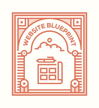 WEBSITE BLUEPRINT ICON CONCEPT