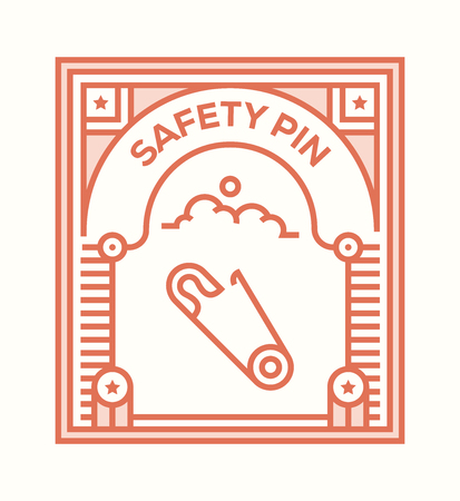 SAFETY PIN ICON CONCEPT