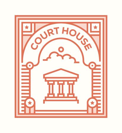 COURT HOUSE ICON CONCEPT Ilustração