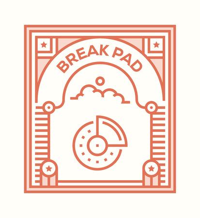 BREAK PAD ICON CONCEPT