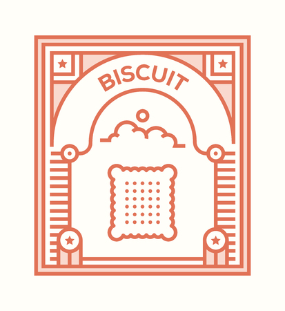 BISCUIT ICON CONCEPT Illustration