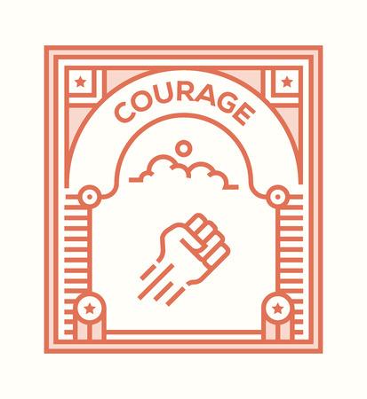 COURAGE ICON CONCEPT Illustration