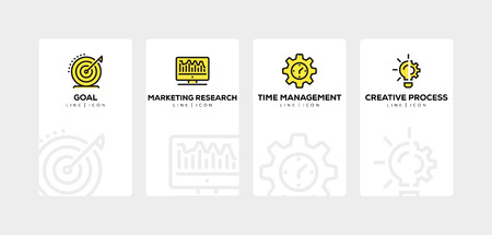 Business and marketing line icon set Иллюстрация