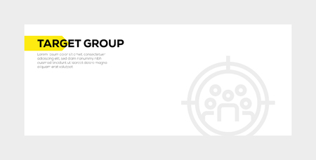 TARGET GROUP banner concept