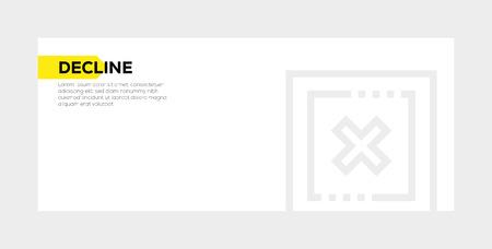 DECLINE banner concept Иллюстрация