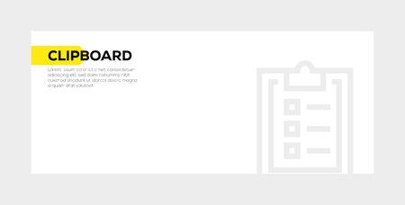 Clipboard banner concept
