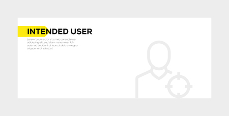 INTENDED USER BANNER CONCEPT