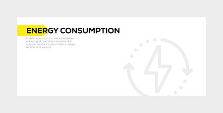 ENERGY CONSUMPTION banner concept Illustration