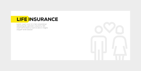 LIFE INSURANCE BANNER CONCEPT