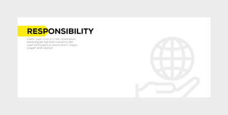 RESPONSIBILITY banner concept