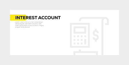 INTEREST ACCOUNT banner concept 向量圖像
