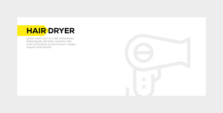 HAIR DRYER banner concept
