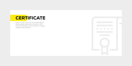 Certificate banner concept