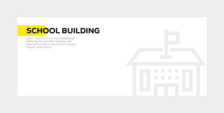 School Building  banner concept