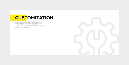 Customization banner concept