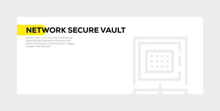 NETWORK SECURE VAULT BANNER CONCEPT