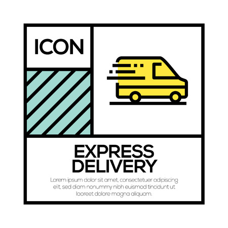 EXPRESS DELIVERY ICON CONCEPT Stock Illustratie