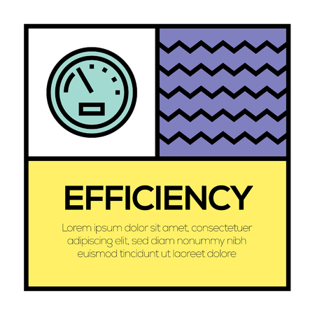 EFFICIENCY ICON CONCEPT