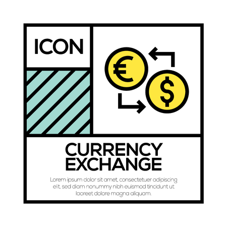 CURRENCY EXCHANGE ICON CONCEPT Illustration