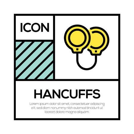 HANCUFFS ICON CONCEPT Stock Vector - 119180575