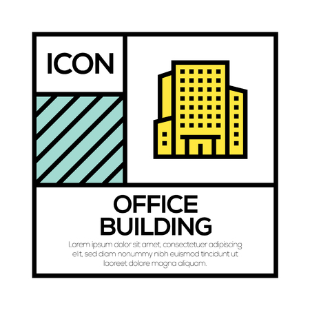OFFICE BUILDING ICON CONCEPT Ilustrace