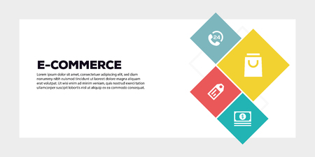 E-COMMERCE BANNER CONCEPT Illustration