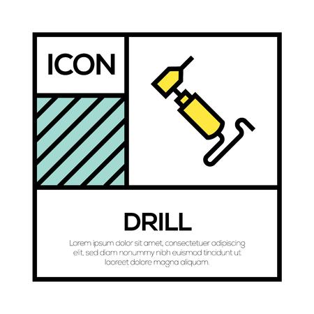 DRILL ICON CONCEPT