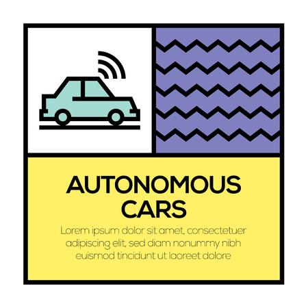AUTONOMOUS CARS ICON CONCEPT Illustration