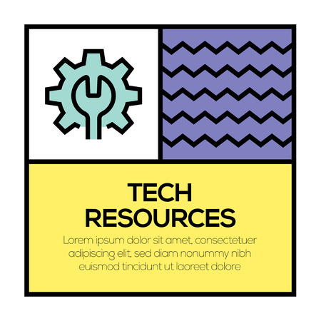 TECH RESOURCES ICON CONCEPT