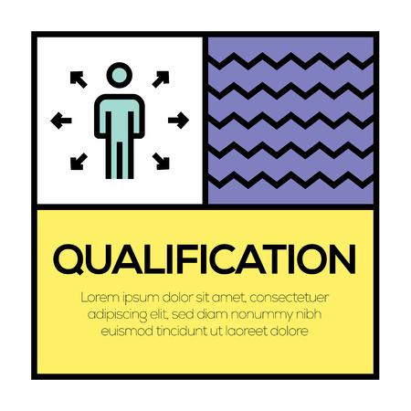 QUALIFICATION ICON CONCEPT Illustration