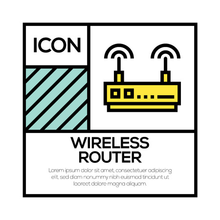 WIRELESS ROUTER ICON CONCEPT