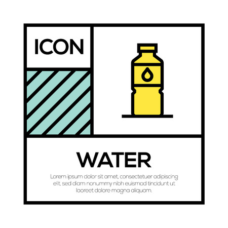 WATER ICON CONCEPT 向量圖像