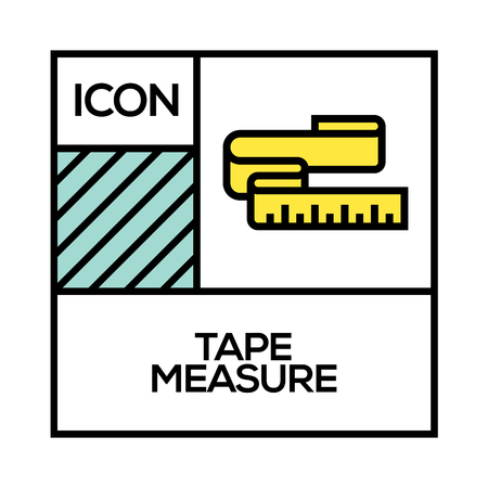 TAPE MEASURE ICON CONCEPT