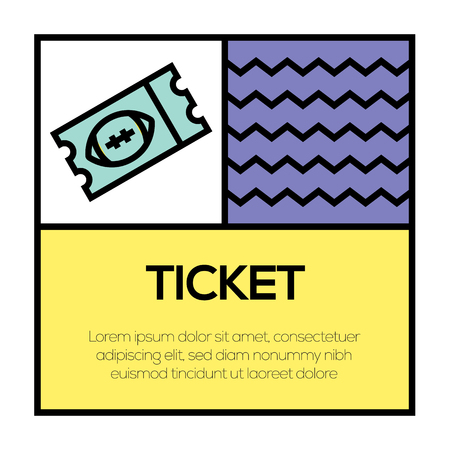 TICKET ICON CONCEPT
