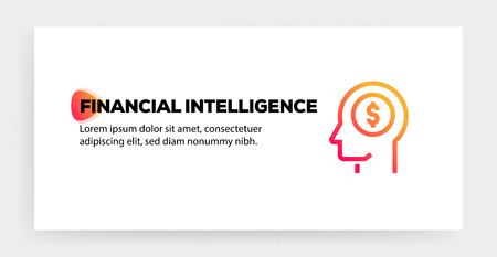 FINANCIAL INTELLIGENCE ICON CONCEPT